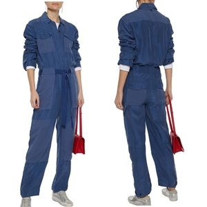 Rag & Bone Henri Tie-front Washed-Silk Jumpsuit